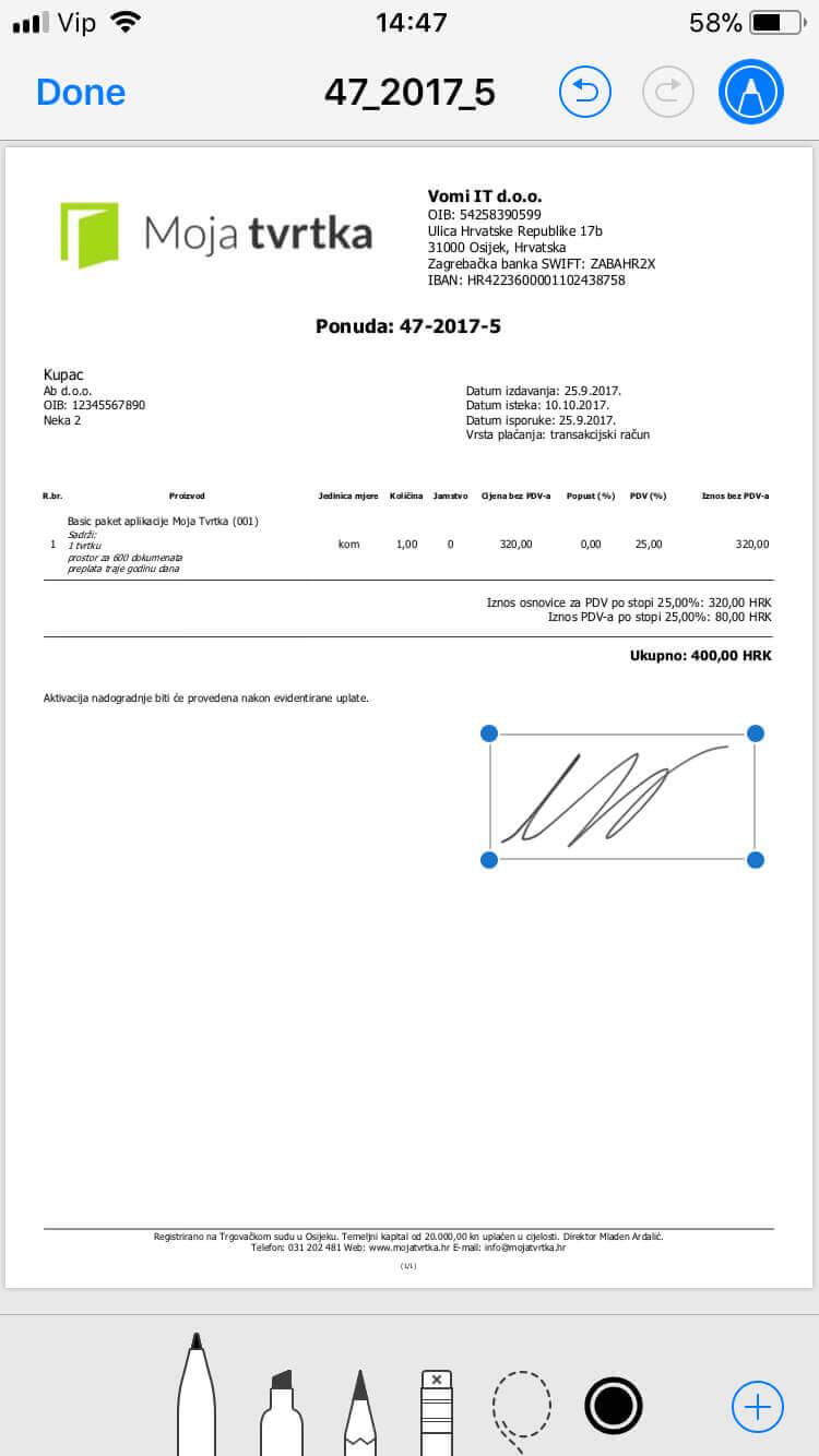 Moja Tvrtka PDF sa digitalnim potpisom
