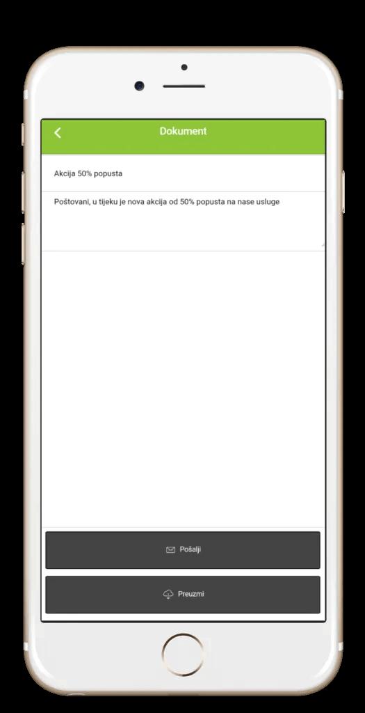 Moja Tvrtka aplikacija - kreiranje dokumenta u aplikaciji