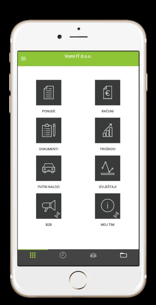 Moja Tvrtka aplikacija - početni zaslon aplikacije